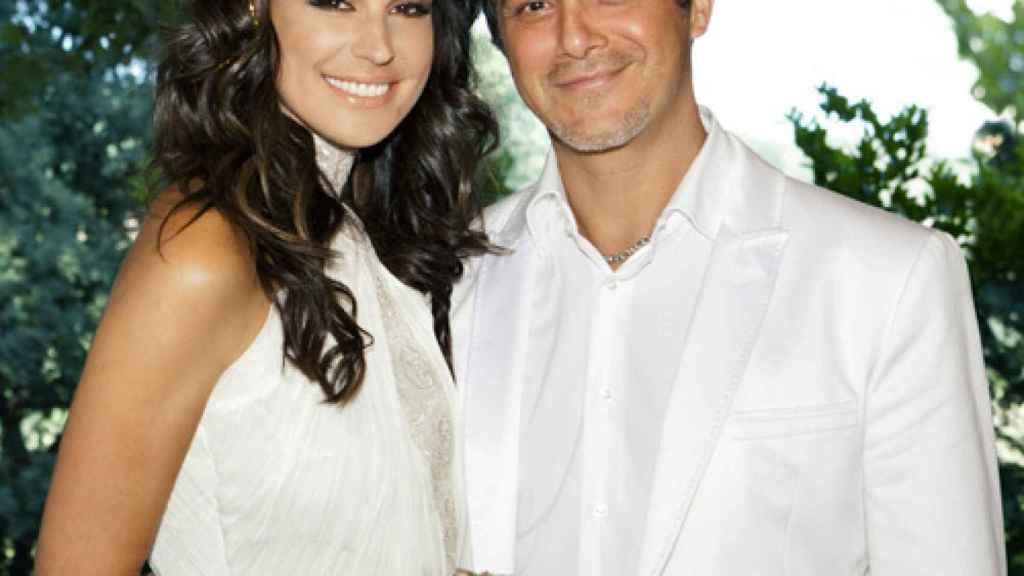 Raquel Perera y Alejandro Sanz el día de su boda.