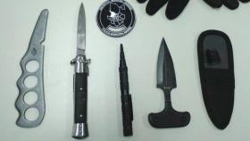 Armas intervenidas por la Policía Municipal de Madrid en el Orgullo.