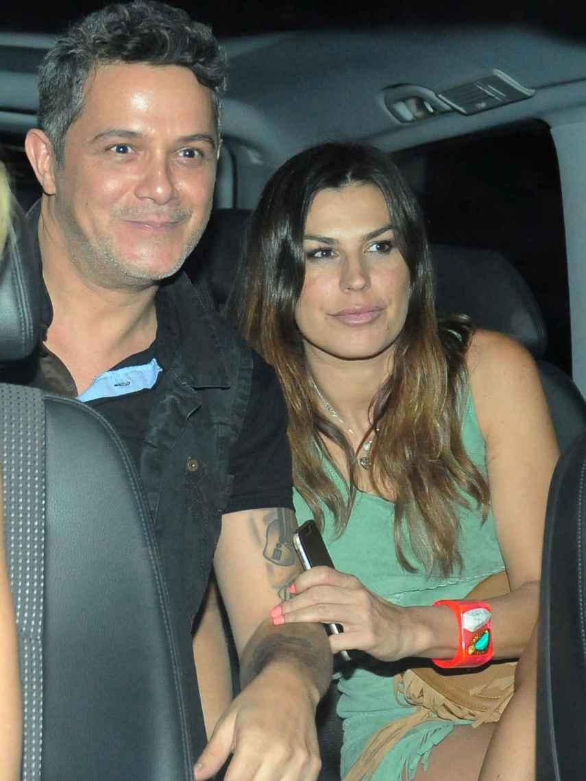 Raquel Perera y Alejandro Sanz en Madrid.