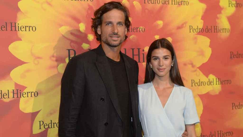 El tenista y su futura mujer en la Mercedes-Benz Fashion Week.