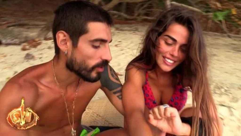 Fabio y Violeta durante su estancia en 'Supervivientes'.