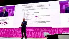 Isaías Táboas, presidente de Renfe, en la presentación del plan estratégico de la operadora ferroviaria.