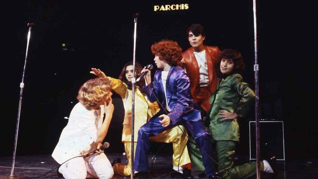 Los niños de Parchís durante un concierto.