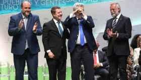 Millán Salcedo junto a García-Page en el Día de la Región en 2018. Foto: Óscar Huertas