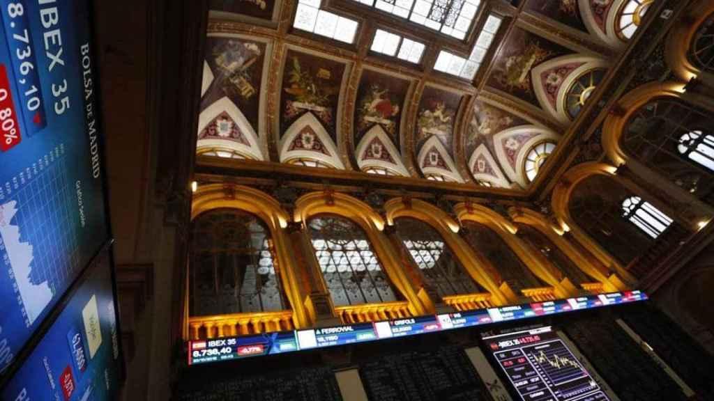 Imagen de archivo de la Bolsa de Madrid.