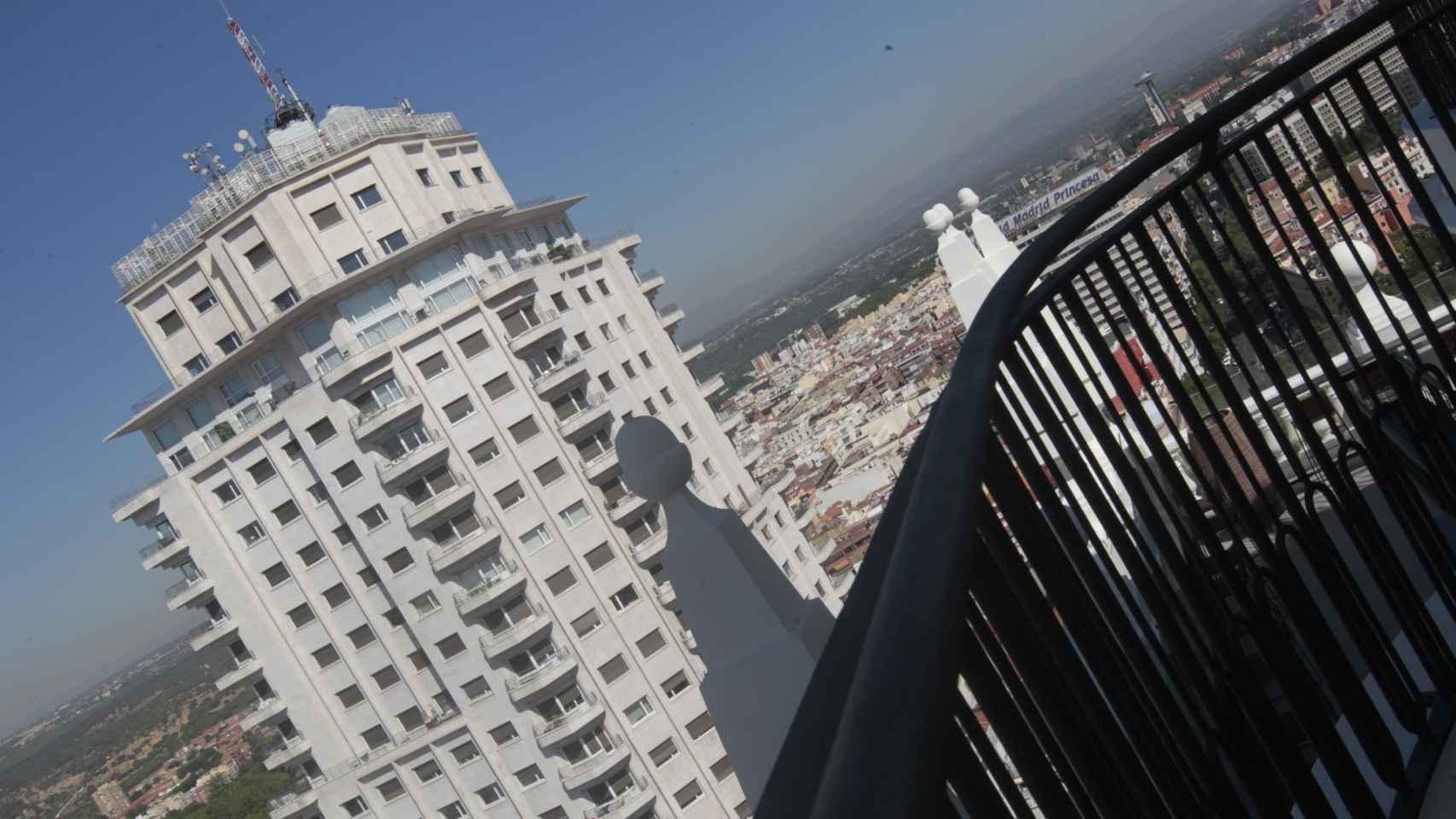 Imagen tomada en el ático del hotel RIU Plaza España.