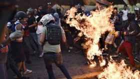 El hombre quemado en Venezuela en 2017