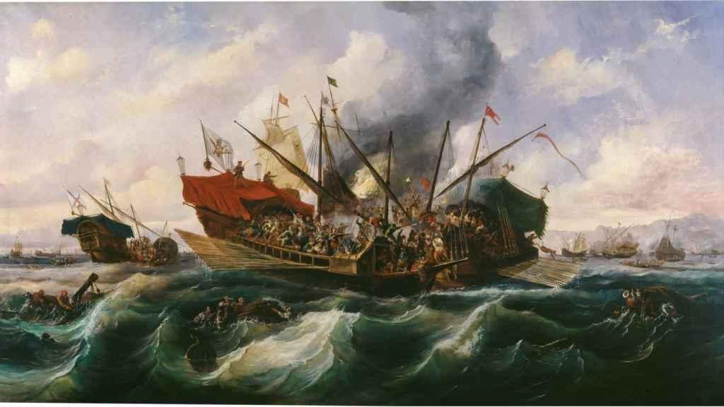 'Episodio del combate naval de Lepanto', de Antonio de Brugada.