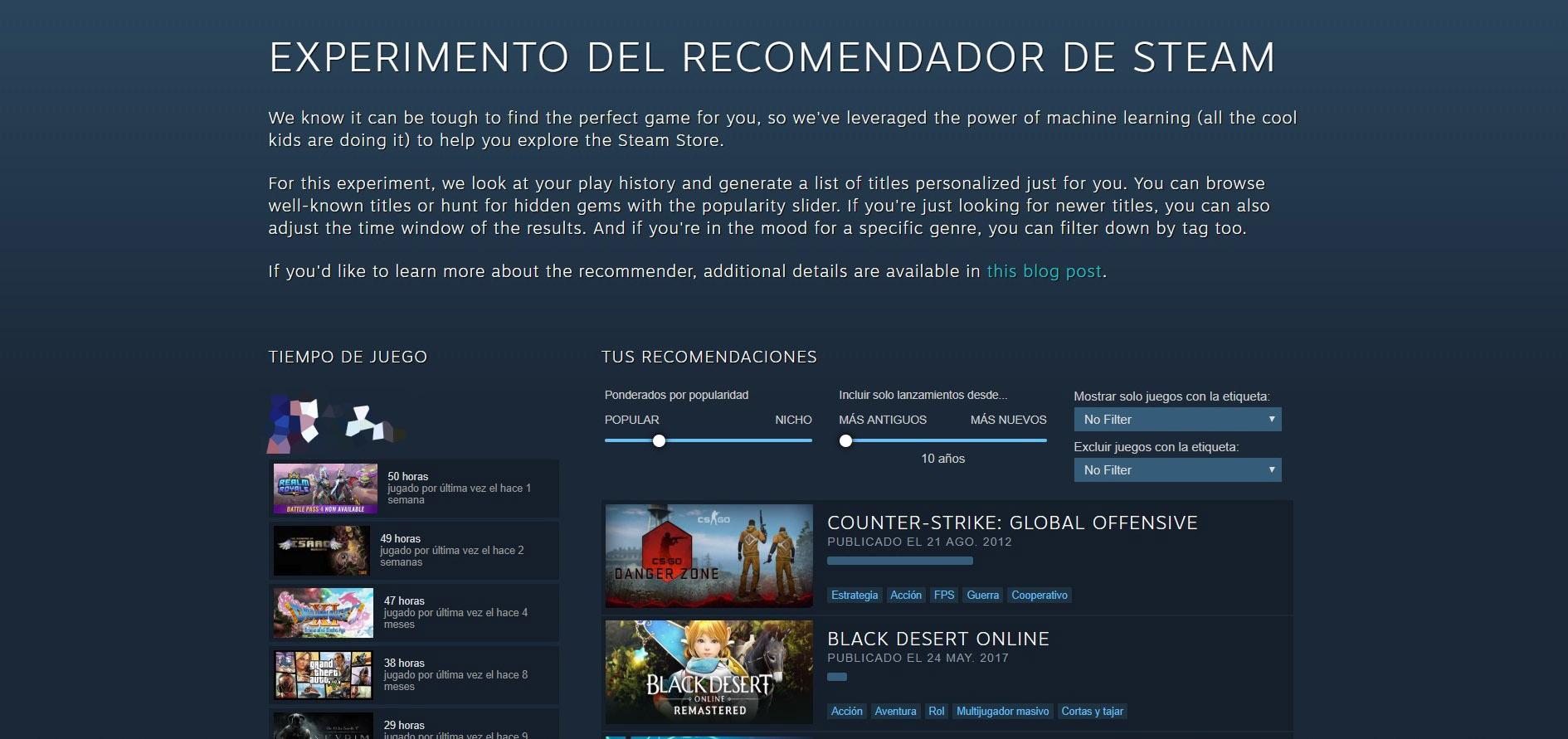 Recomendador Steam 1