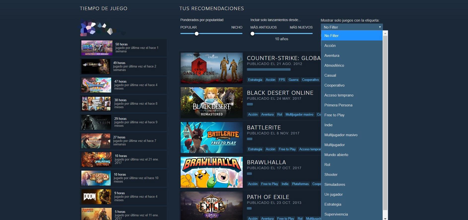 Recomendador Steam 2