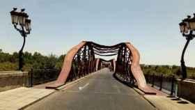 Celebrado meme de la ola de calor en Talavera y el puente de Hierro derretido