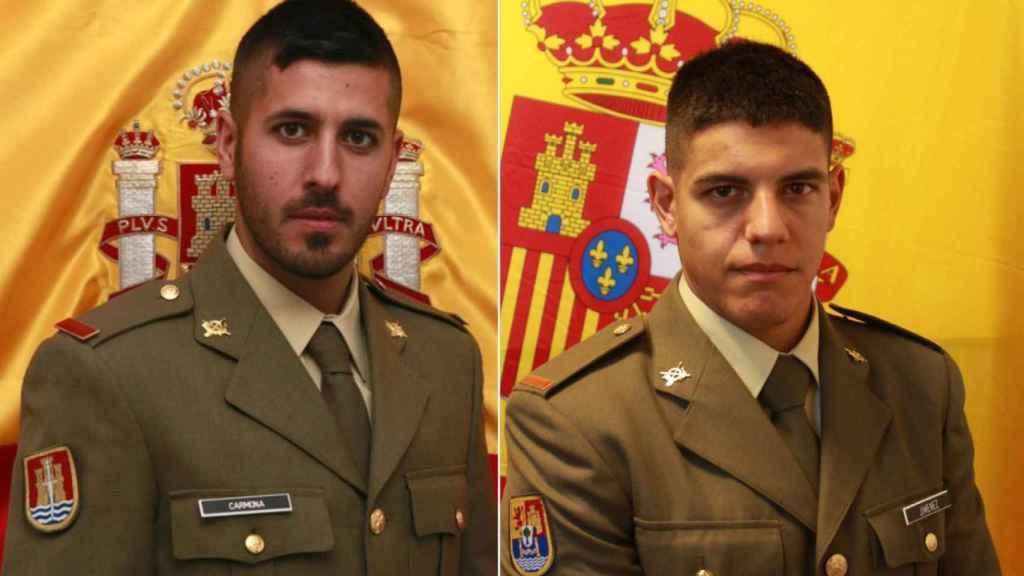 Los soldados Jiménez y Carmona redujeron a un individuo con un cuchillo en la plaza del Castillo.