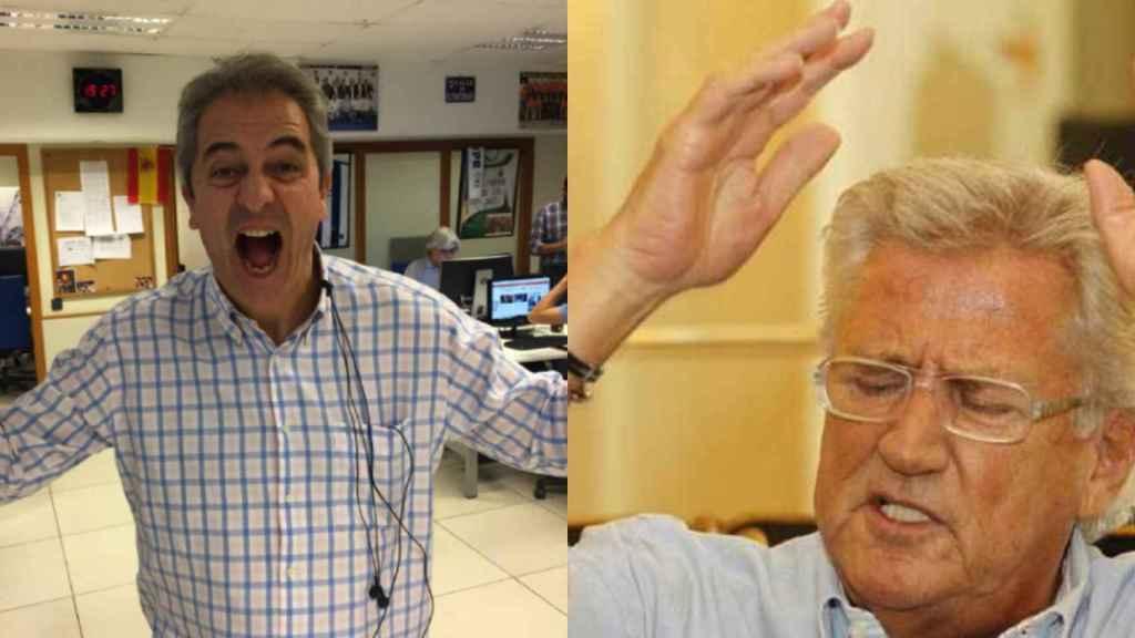 Manolo Lama en una imagen de Twitter y Pepe Domingo Castaño.