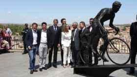 Inauguración de la estatua en honor a Bahamontes. Foto: Óscar Huertas