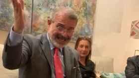 Milton Henríquez, embajador de Panamá en España. La imagen ha sido extraída del vídeo en el que alaba la historia de España.