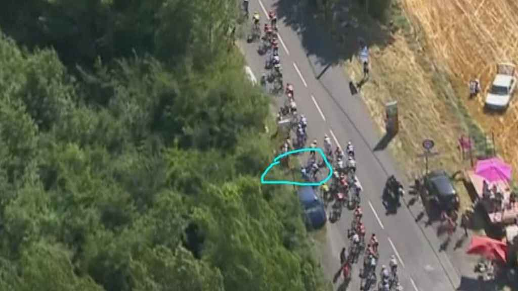 Caída de Mikel Landa en la décima etapa del Tour de Francia