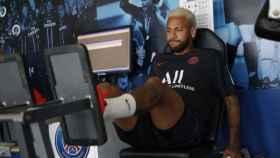 Neymar en la pretemporada con el PSG