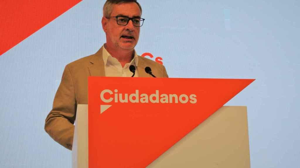 José Manuel Villegas comparece ante la prensa tras la Ejecutiva de Ciudadanos.