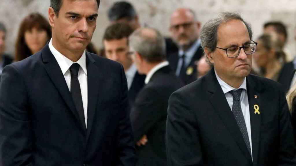 Sánchez y Torra el 9 de octubre de 2018, dos días antes de la resolución del Parlament./