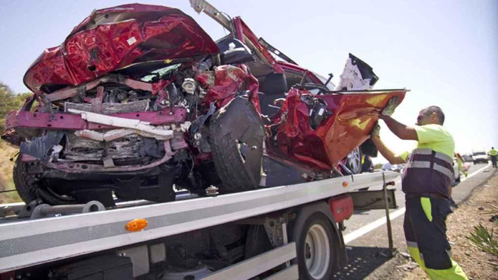 Foto de archivo de un accidente de tráfico