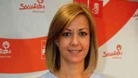 Ana Isabel Abengózar (PSOE) ofrece una rueda de prensa en las Cortes este miércoles, como Lola Merino (PP) y David Muñoz (Cs)