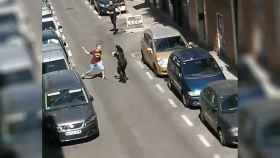 Agresión en un barrio de Madrid.