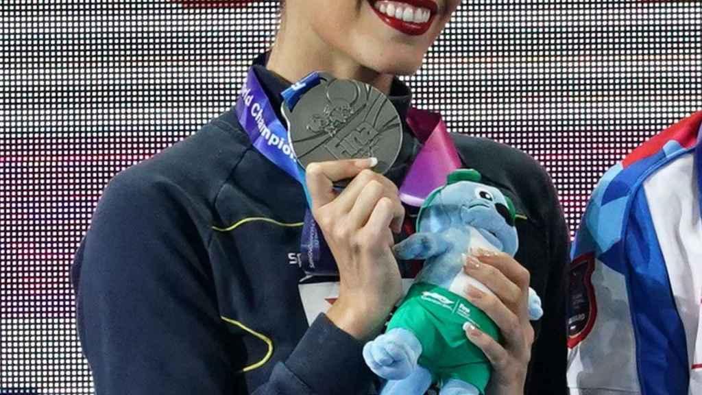Ona Carbonell, tras ganar su su 23ª medalla mundialista