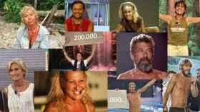 Algunos de los ganadores de 'Supervivientes'.