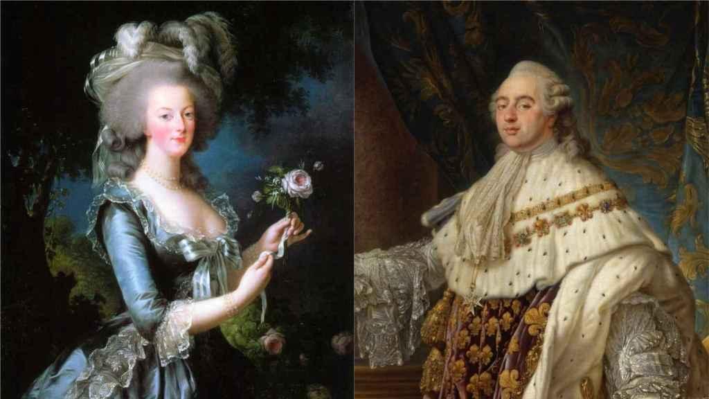 María Antonieta y Luis XVI, reyes de Francia antes de la Revolución.