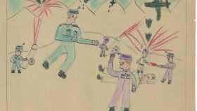 Uno de los dibujos de los niños de la Guerra Civil en la edición de la Uña Rota.