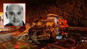 El kamikaze, Juan Manuel Fernández. En la imagen, el estado en el que quedo su coche tras la colisión.