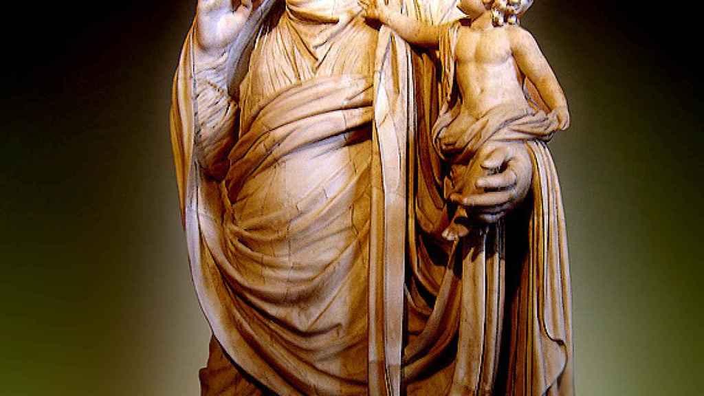 Mesalina con su hijo Británico.
