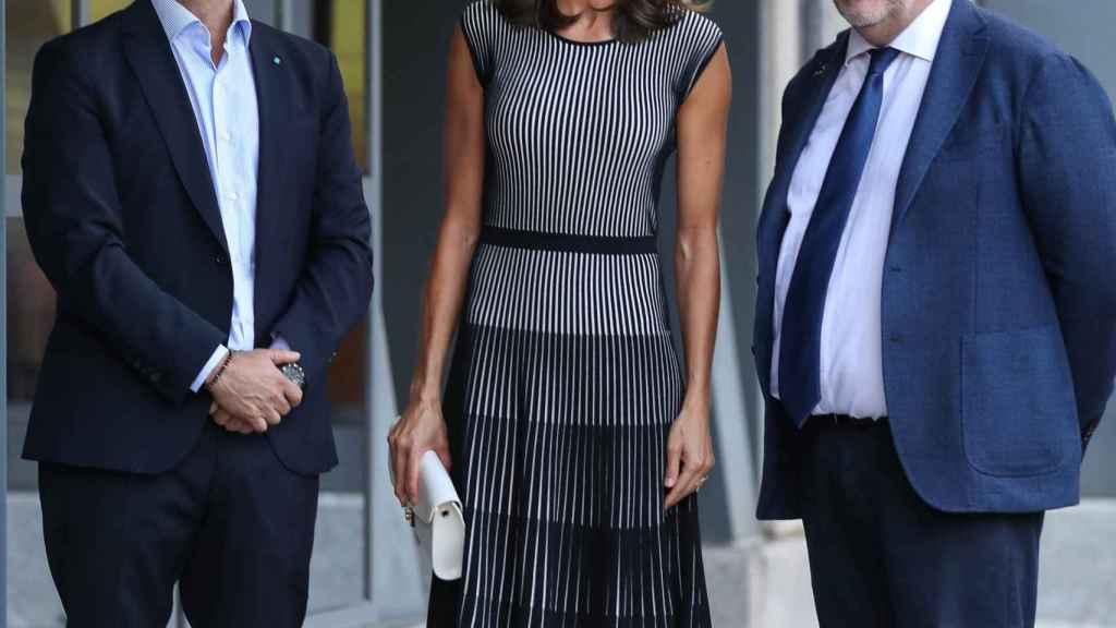 Fernando Garea, la Reina y Mario Tascón, en una imagen de archivo.