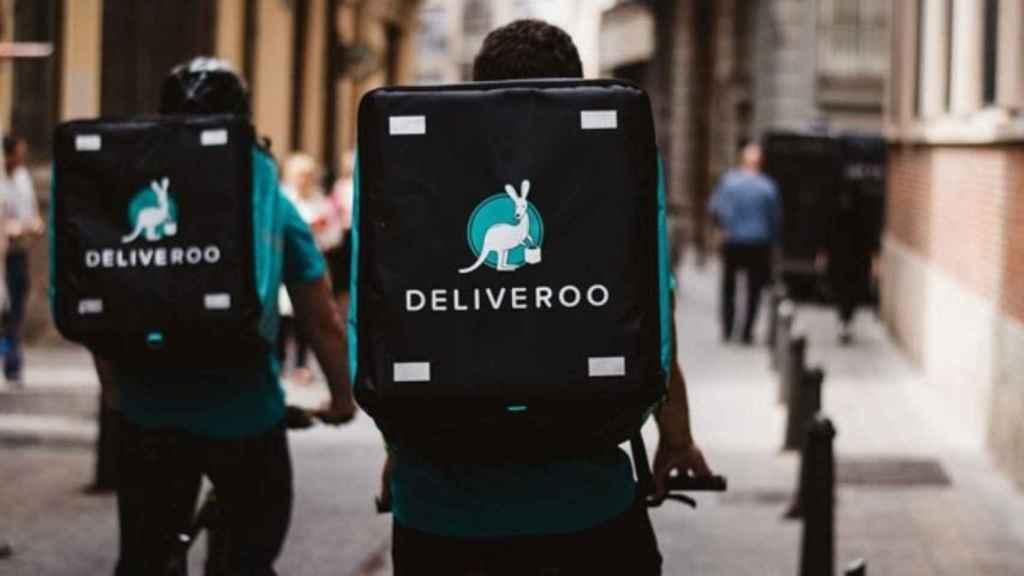 Riders de Deliveroo, en una imagen de archivo.