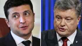 Vladímir Zelenski y Petró Poroshenko.