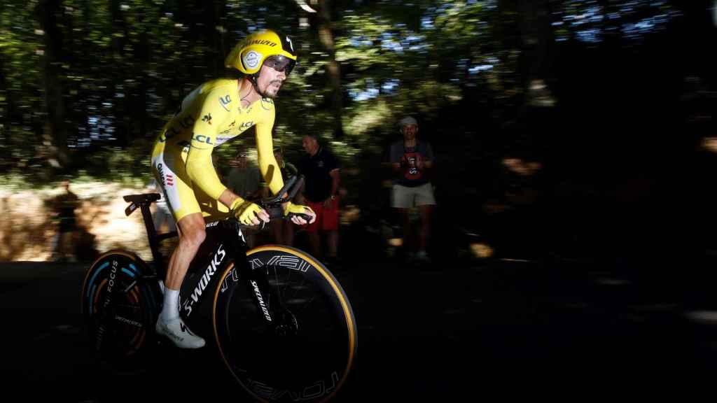Alaphilippe, en la crono del Tour de Francia