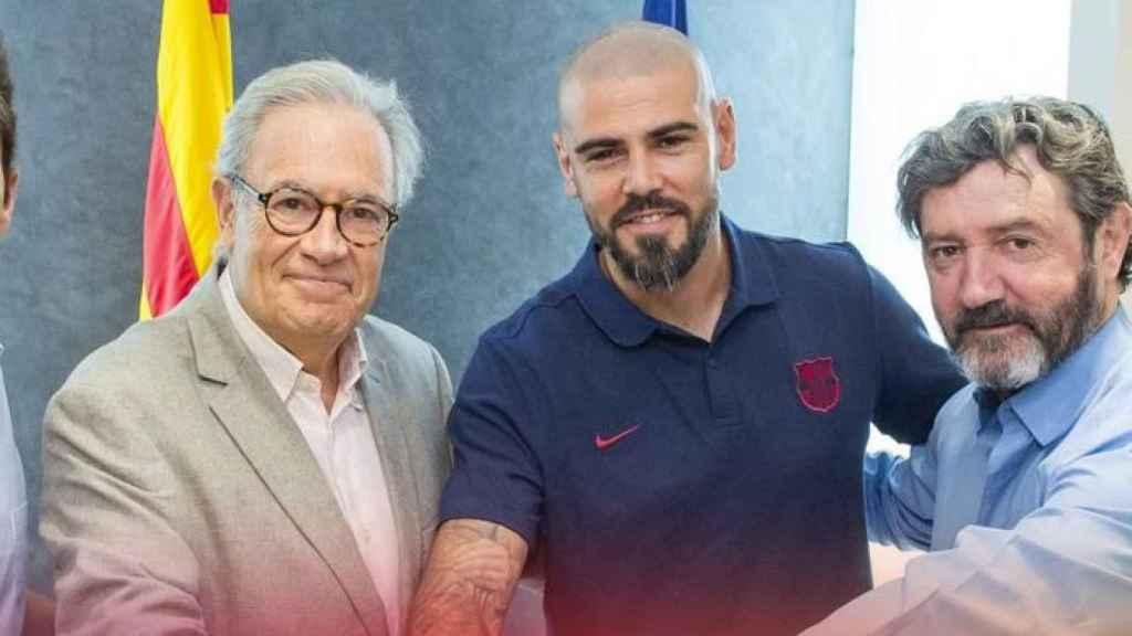 Víctor Valdés vuelve al Barcelona. Foto: fcbarcelona.es