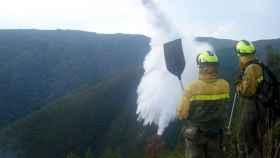trabajadores incendios