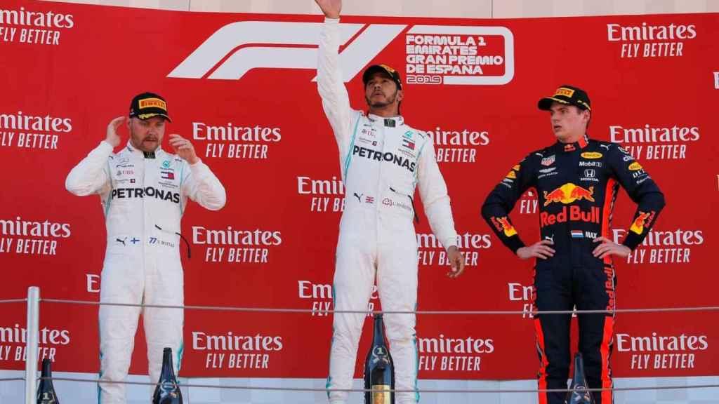 Hamilton, Bottas y Verstappen, el podium del GP de España 2019