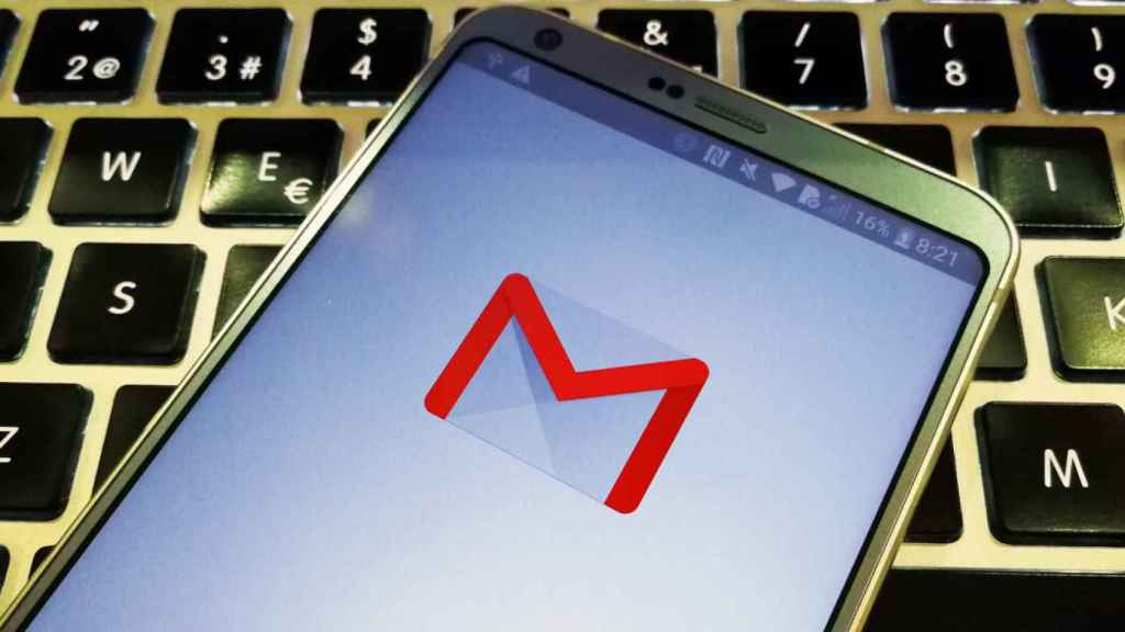 Aplicación de Gmail con el logo antiguo