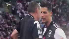Sarri y Cristiano Ronaldo