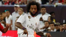 Marcelo durante el primer partido del Real Madrid en la pretemporada