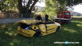 Así ha quedado el vehículo accidentado.
