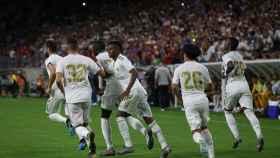 Los jugadores del Real Madrid celebran un gol en la International Champions Cup