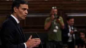 Pedro Sánchez, este lunes en el Congreso.