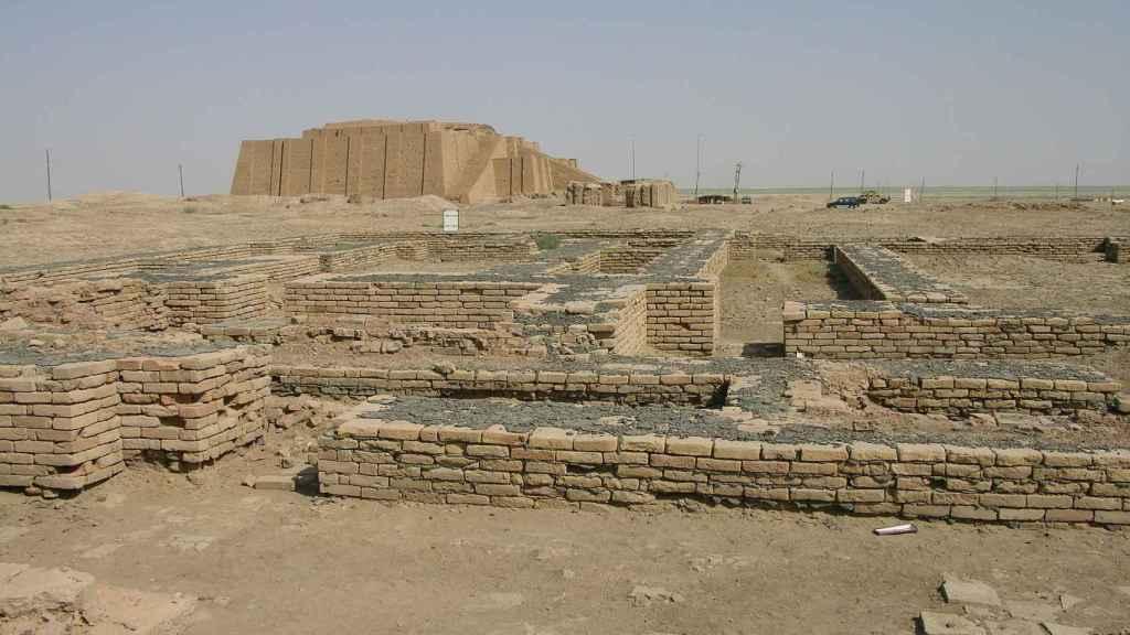 Restos arqueológicos del complejo en el que vivió Enheduanna.