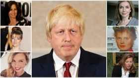 Boris Johnson en un montaje junto a las mujeres con las que se la ha relacionado.