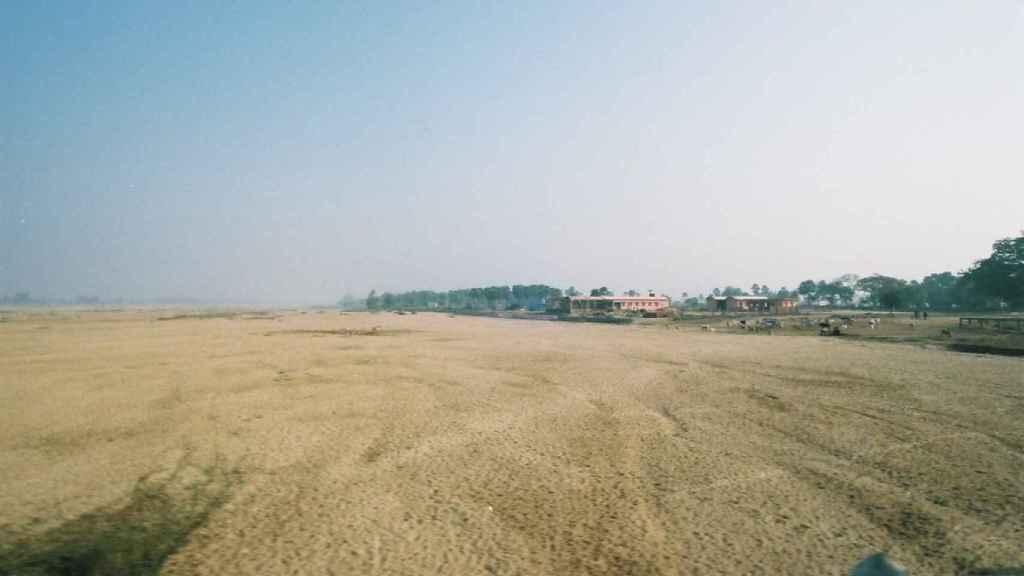 Lecho seco de un río indio.