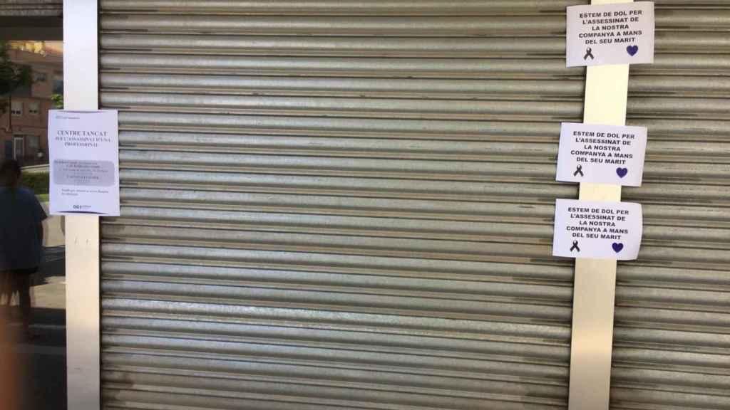 La puerta del CAP Terrassa Est, cerrada por el suceso