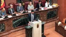López Miras en la Asamblea Regional en la primera sesión del Debate de Investidura.